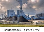 heavy industrial coal powered... | Shutterstock . vector #519756799