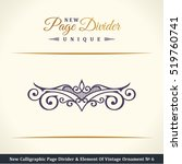 new calligraphic page divider... | Shutterstock .eps vector #519760741