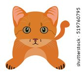 isolated cute cat on a white... | Shutterstock .eps vector #519760795