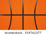 basketball ball leather...   Shutterstock .eps vector #519761377