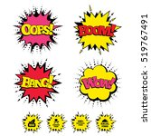 comic boom  wow  oops sound... | Shutterstock .eps vector #519767491