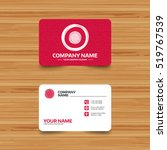 business card template with... | Shutterstock .eps vector #519767539
