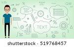 student smart  graduate ... | Shutterstock .eps vector #519768457
