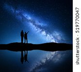 Milky Way With Silhouette Of A...