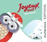 christmas greeting card...   Shutterstock .eps vector #519772741