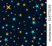 star seamless pattern. star sky ... | Shutterstock .eps vector #519773155