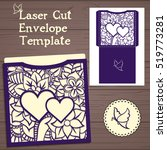 lasercut vector wedding... | Shutterstock .eps vector #519773281