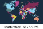 world map countries. world map... | Shutterstock .eps vector #519773791