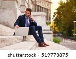 a handsome young businessman... | Shutterstock . vector #519773875
