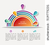 vector infographic scheme with... | Shutterstock .eps vector #519775231