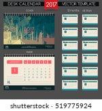 calendar 2017. printable... | Shutterstock .eps vector #519775924