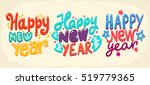 happy new year card.hand drawn... | Shutterstock .eps vector #519779365