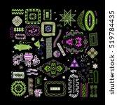 ethnic handmade ornament for... | Shutterstock .eps vector #519784435