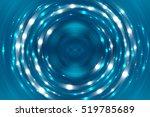abstract fractal blue... | Shutterstock . vector #519785689