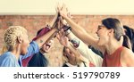 teamwork power successful... | Shutterstock . vector #519790789