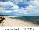 the endless beach on grand turk ... | Shutterstock . vector #51979117