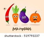 characters vegetables  fresh ...   Shutterstock .eps vector #519793237