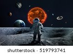 solar system and space objects. ... | Shutterstock . vector #519793741