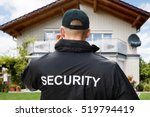 rear view of male security... | Shutterstock . vector #519794419