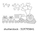 big locomotive with gifts like...   Shutterstock .eps vector #519795841