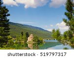 Lake Doxa In Feneos With The...