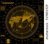 abstract digital yellow radar...   Shutterstock .eps vector #519801529