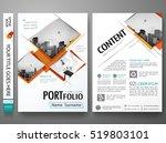minimal cover book presentation.... | Shutterstock .eps vector #519803101