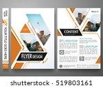 brochure design template vector.... | Shutterstock .eps vector #519803161