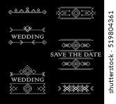 wedding  save the date.vector... | Shutterstock .eps vector #519804361