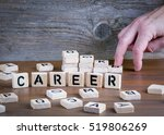 career from wooden letterson on ... | Shutterstock . vector #519806269