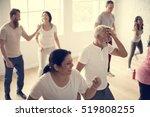 diversity people exercise class ...   Shutterstock . vector #519808255
