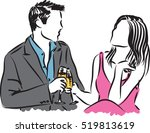 man and woman illustration   Shutterstock .eps vector #519813619