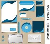 business kit in blue colors...   Shutterstock .eps vector #519814939