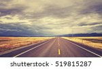 vintage toned countryside road... | Shutterstock . vector #519815287