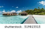 tropical beach with water... | Shutterstock . vector #519815515