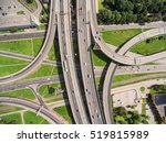 aerial view at junctions of...   Shutterstock . vector #519815989