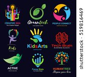 logo set  creative idea  kids... | Shutterstock .eps vector #519816469