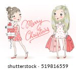 hand drawn beautiful  cute ... | Shutterstock .eps vector #519816559