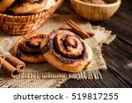 Small photo of Sweet rolls with cinnamon and cocoa filling