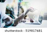 double exposure of businessman... | Shutterstock . vector #519817681