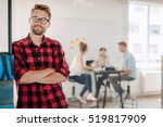 portrait of relaxed young man... | Shutterstock . vector #519817909