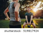 young man doing weight training ... | Shutterstock . vector #519817924