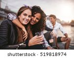 shot of young female friends... | Shutterstock . vector #519818974