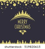 merry christmas design template ...   Shutterstock . vector #519820615