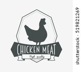 chicken meat logo  label or...   Shutterstock . vector #519821269