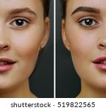 female face  with perfect skin  ... | Shutterstock . vector #519822565