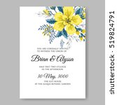 wedding invitation card with... | Shutterstock .eps vector #519824791