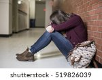 a young depress female student... | Shutterstock . vector #519826039