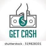 logo   get money   cash concept | Shutterstock .eps vector #519828331
