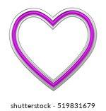 silver purple heart picture... | Shutterstock . vector #519831679